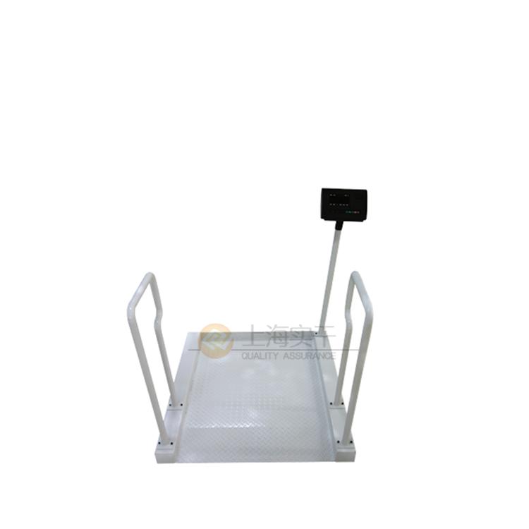 白色专用智能轮椅秤,定做称重轮椅称